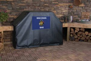 Wisconsin State Flag Logo Grill Cover