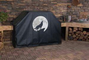 The Howling Wolf Logo Grill Cover