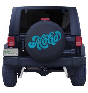 Aloha Wonky Tire Cover