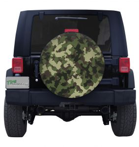 Woodland Camouflage Tire Cover Jeep Wrangler