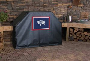 Wyoming State Flag Logo Grill Cover