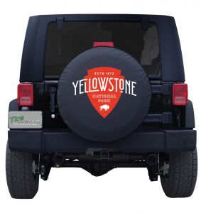 Yellowstone National Park Arrowhead Custom Tire Cover