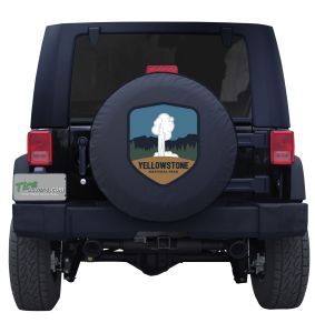 Yellowstone National Park Geyser Badge Tire Cover