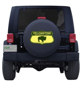 Yellowstone National Park Road Sign Tire Cover