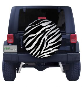 Zebra Print Tire Cover