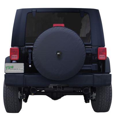 Plain Black Vinyl Tire Cover