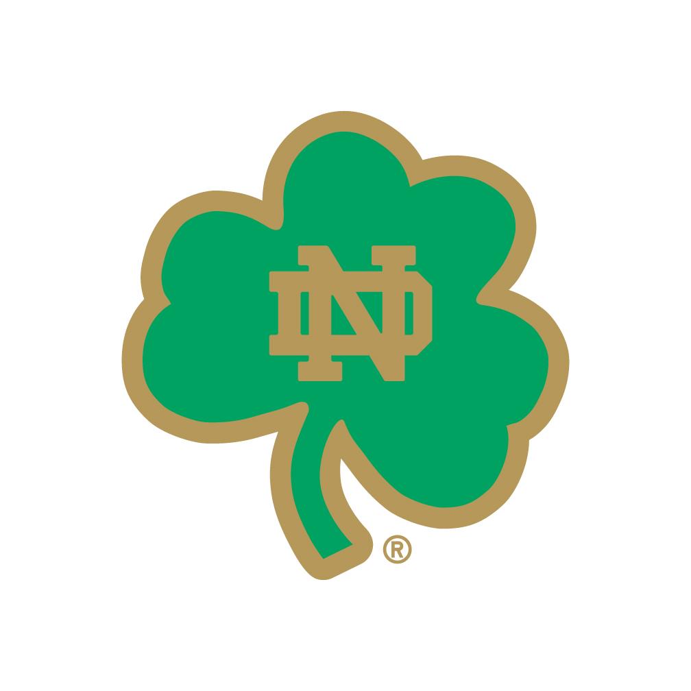 University of Notre Dame Block Shamrock Logo