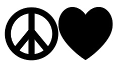 Peace Love Tire Cover