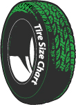 Tire Cover Size Chart